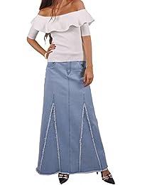 Love Blue Long Jean Skirt