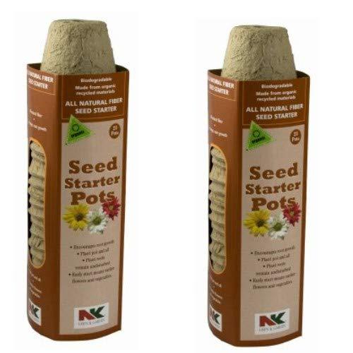 Plantation #FR220B 23PK 2-1/4 Round Peat Pot 2 Pack (2)