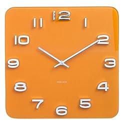 Karlsson Vintage Glass Wall Clock - Saffron Yellow