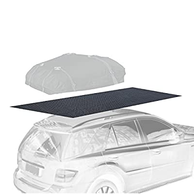 Thick Car Roof Mat Non-slip Protective Extra Rubberized Cushion Padding and Grip for Cargo Luggage Bag Carrier 47 x 39 Resizable