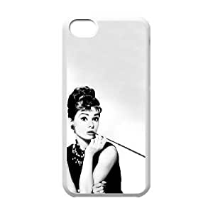 iPhone 5c Cell Phone Case White Audrey Hepburn dpj