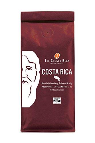 Costa Rica - The Chosen Bean Single Origin Micro Roasted Medium Roast Gourmet Coffee (Whole Bean, 12 oz)