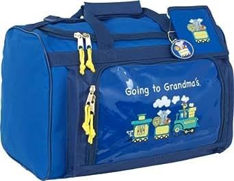"Going to Grandma's Children's 15"" Duffel Bag Color: Blue / Navy Trim"