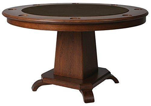 Impacterra Vargas Game Table, Windsor 54″ Round, Brown