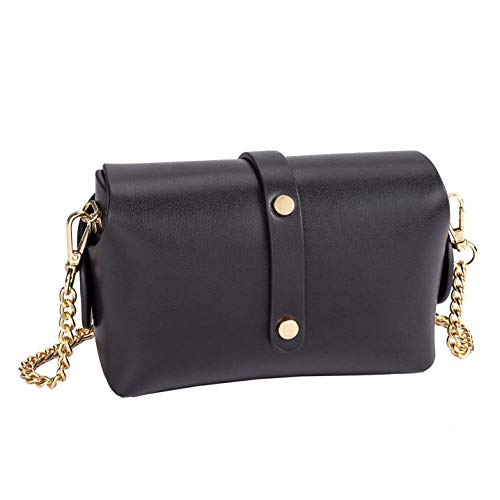 Sydney Leather Crossbody Vegan Love Black Chain vFvSOHB