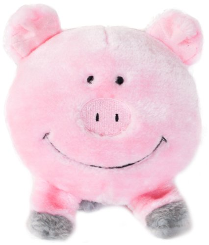 ZippyPaws Brainey Squeaky Plush Dog Toy, Pig