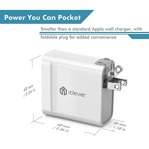 [USB C PD Charger] iClever 45W USB Type C Power Delivery Wall Charger for MacBook 2015/2016, Nintendo Switch, iPhone X/8/8 Plus, Pixel C, Nexus 5X/6P, Samsung Notebook and more [Compatible with 30W]