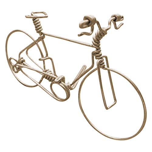 Handmade Men Mountain Bikes Medium ~ Unique Biking Gifts for Bikers & Cyclists ~ Amazing Bicycle Decor Ornament ~ Crafted By One Strand of Wire w/No Single Break ~ Stand Alone Bike Art Display