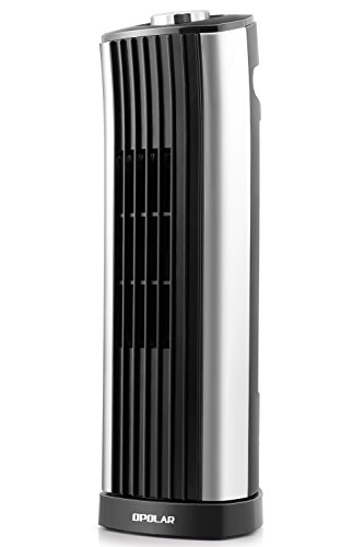 OPOLAR 14 Inch Mini Tower Fan Smooth Oscillation, Personal Desktop Fan, Ultra-silm, 2 Settings, Ideal Office Home Desk Use - 120V/60HZ