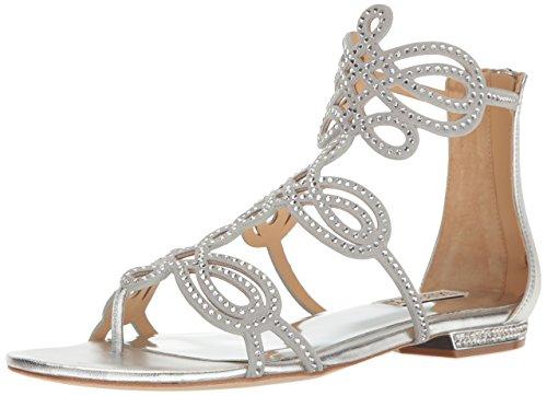 Silver Badgley Sandal Dress Tempe Damen Mischka wFxqFOZ6