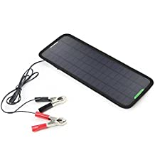 ALLPOWERS New 18V 5W Portable Solar Car Boat Power Solar Panel Battery Charger Maintainer for Automobile Motorcycle Tractor Boat Batteries