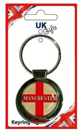 Manchester St George Round Keyring