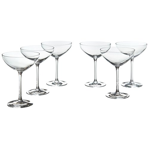 Stone & Beam Traditional Martini Coupe Glass, 8-Ounce, Pack of 6 by Stone & Beam (Image #5)