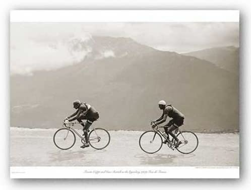 CYCLING ART PRINT The Tour of the /'30s Sports Pressee