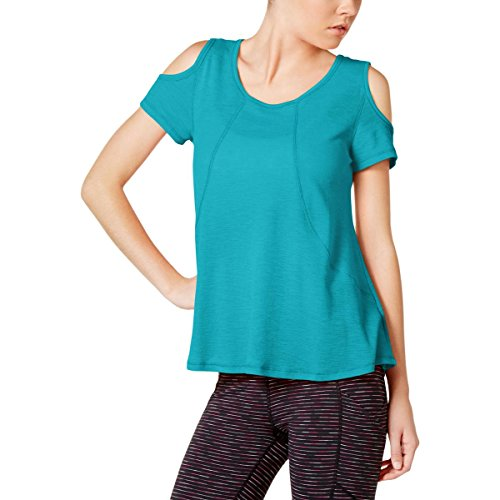 Calvin Klein Performance Womens Yoga Fitness Pullover Top Blue XL