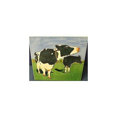 Say Moo Cow Decorative Ceramic Wall Art Tile 6x6