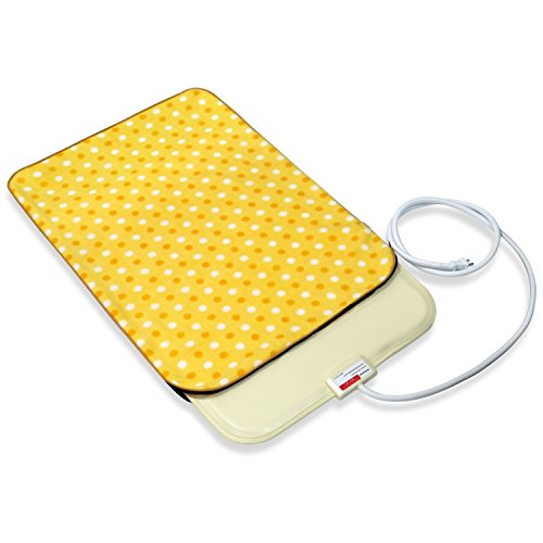 Fluffy Paws Indoor Pet Bed Warmer Electric Heated Pad with Free Cover (Dual Temperature & UL Certified), Yellow (Fluffy Electric Blanket)