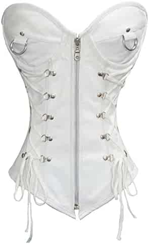 5f1b1e798b (8) Views. Heavy Duty 24 Double Steel Boned Waist Training Genuine Leather  Overbust Tight Shaper Corset ...