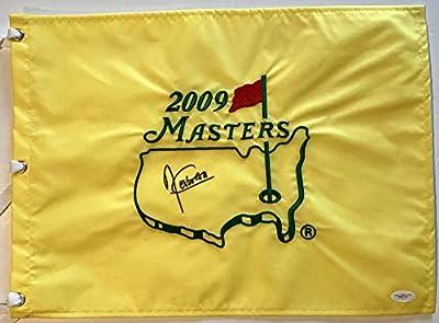 Angel Cabrera Signed 2009 Masters Golf Pin flag w/JSA Spence Coa
