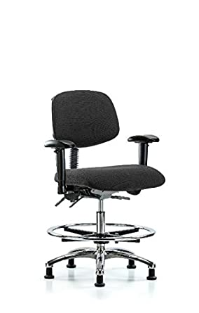 Incredible Labtech Seating Lt41049 Esd Fabric Medium Bench Chair Chrome Ocoug Best Dining Table And Chair Ideas Images Ocougorg