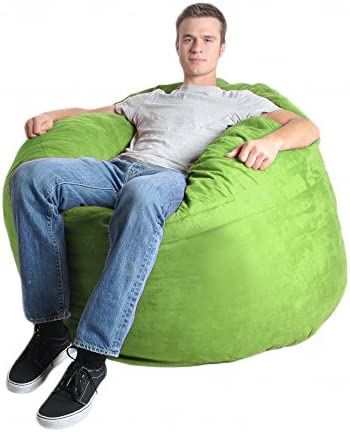 SLACKER sack 4-Feet Foam Microsuede Beanbag Chair, Large, Lime Green
