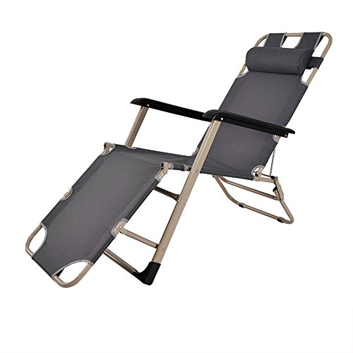 Folding bed / Folding chair / Lunch bed / Office bed / Camp bed / Reinforced beach chair / Reinforced pipe Folding chair / Three color optional chair / Single-tube rocking chair ( Color : C ) by Folding Chair