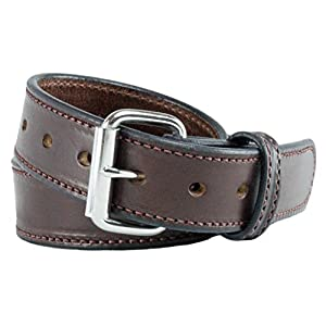 The Ultimate Concealed Carry CCW Leather Gun Belt - New and Improved - 14 ounce 1 1/2 inch Premium Full Grain Leather Belt - Handmade in the USA! Brown Size 44