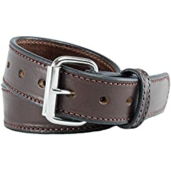 Relentless Tactical The Ultimate Concealed Carry CCW Leather Gun Belt - New and Improved -14 Ounce 1 1/2 inch Premium Full Grain Leather Belt - Handmade in The USA! Brown Size 40
