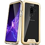 Zizo ION Series Compatible with Samsung Galaxy S9 Plus Case Military Grade Drop Tested with Tempered Glass Screen Protector Gold Clear