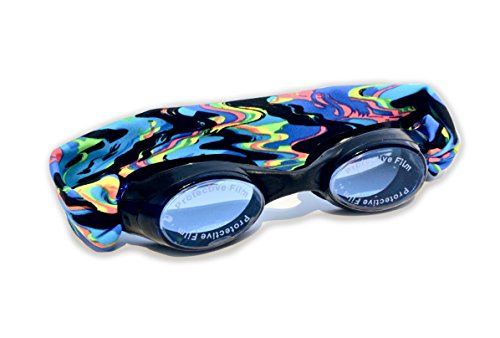 Splash Molten Lava Swim Goggles – Comfortable, Fashionable, Fun – Fits Kids & Adults – Won't Pull Your Hair – Easy to Use – High Visibility Anti-Fog Lenses – Patent Pending