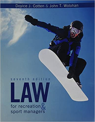 Amazon law for recreation and sport managers 9781524902681 law for recreation and sport managers 7th edition fandeluxe Images