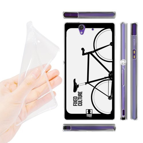 Head Case Designs Culture Fixed Gears Soft Gel Back Case Cover for Sony Xperia Z C6603