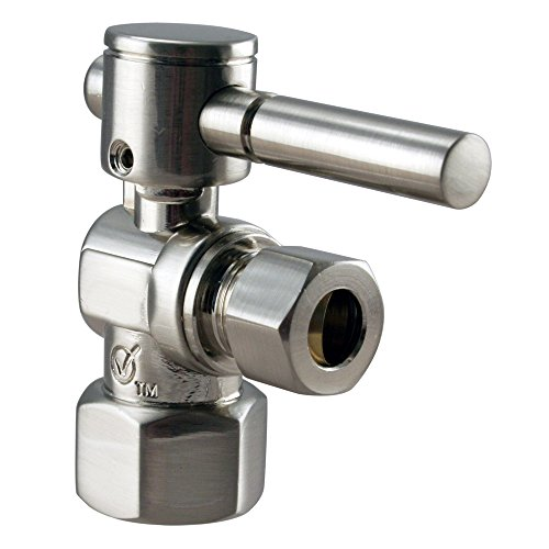 Westbrass 1/4-Turn Lever Handle Angle Stop, 1/2