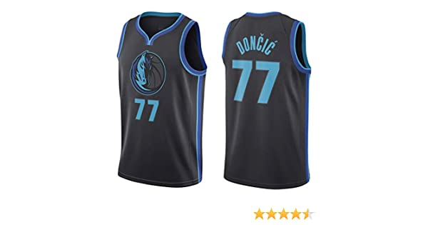 Oquta Luka Doncic Dallas Mavericks #77 Basketball Jersey Black ...