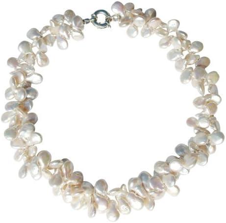 Maravilloso y exclusivo collar de dos vueltas con perlas blancas cultivadas de agua dulce con hermoso broche en plata