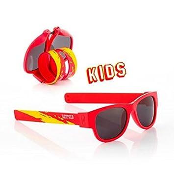 Sunfold Mundial Spain Gafas de Sol Enrollables, Unisex niños, Rojo, Talla Única