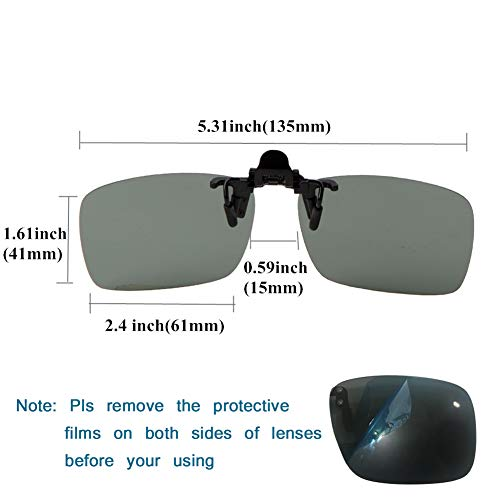 7f6ebef41e yodo Upgraded Polarized Flip up Clip on Sunglasses Over Prescription  Glasses for Men Women Driving Fishing