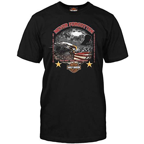 Harley T Shirts (Harley-Davidson Military - Men's Veteran Graphic T-Shirt - Never Forgotten 2X)