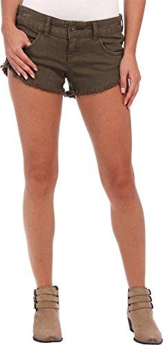 Billabong Women's Laneway Colors Denim Shorts Army 29