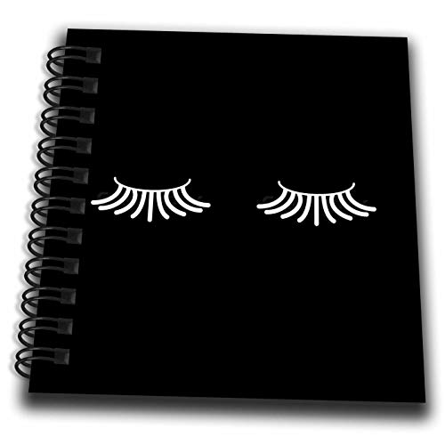 3dRose Tory Anne Collections Art - Eyelashes - Mini Notepad 4 x 4 inch (db_301004_3)