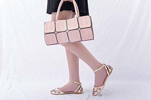 Mila Lady Tina Fashion New Dorsay Setosa Moda Floreale Seni Floreali A Punta Di Fiori, Nude