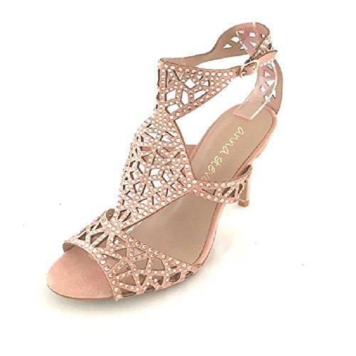 Sandalia diamantes color rosa Rosa