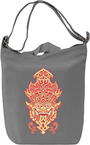 Demon Borsa Giornaliera Canvas Canvas Day Bag| 100% Premium Cotton Canvas| DTG Printing|