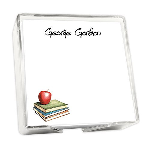 Personalized Apple Memo Square with Holder