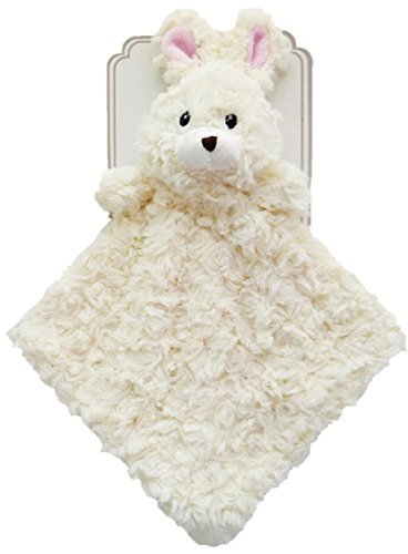 (Baby 14 Plush Animal Snuggle Buddy Security Blanket (White Bunny))