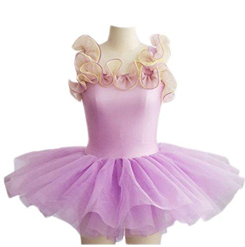 Professional Tutu Ballet Dress For Children Girls women Danse Classique Adulte Costumes Dancewear Kids Infantil Polyes (S(95-110CM), purple)