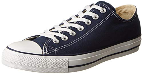 (Converse Unisex Chuck Taylor All Star Ox Low Top Navy Sneakers - 9.5 Men 11.5 Women)