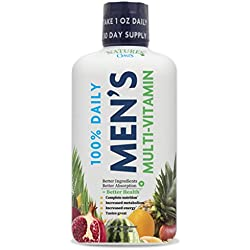 Men's Complete Liquid Multivitamin w/ CoQ10, PABA + 100 additional vitamins, minerals, & amino Acids - Boosts Energy & Stamina - Supports heart, brain, and muscle function. Max Absorption! - 32 Serv