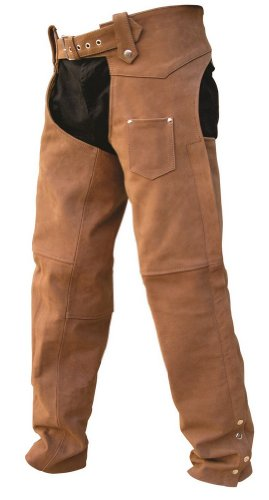 Unisex Adult AL2410 Chaps X-Large Brown by Allstate Leather