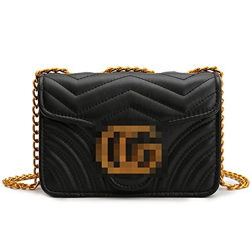 single shoulder bag shoulder GMYAN diamond Black chain Fashion PH8An8t